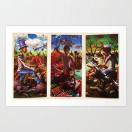 Polarity in Paint Art Print