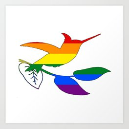 Rainbow Hummingbird Art Print