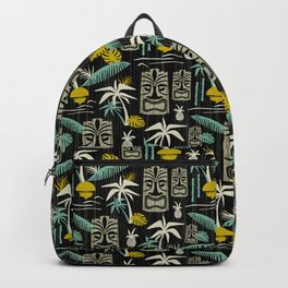 Island Tiki - Black Backpack