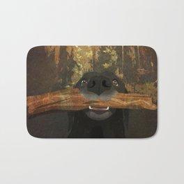 Playful Labrador Bath Mat