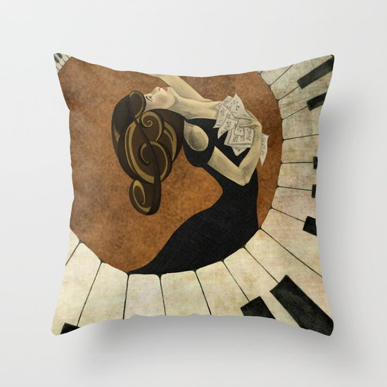 Key to the Soul Throw Pillow