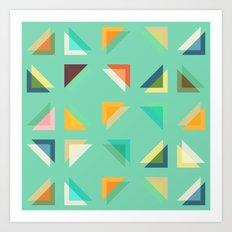 Geometric Mint Art Print