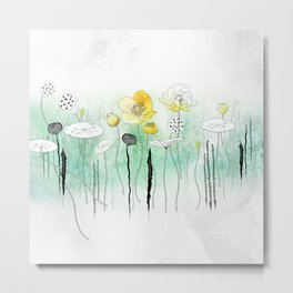 Watercress Pond Metal Print