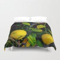 berserk Duvet Covers featuring Winter Lemons by oneofacard