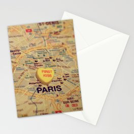 First Kiss Paris Stationery Cards