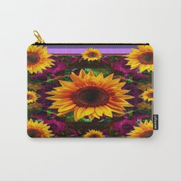 Sunflowers Pattern Wine-Purple-Puce Colors Art Carry-All Pouch