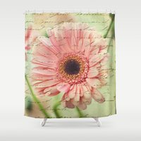 shabby chic Shower Curtains featuring Shabby Chic by whimsy canvas