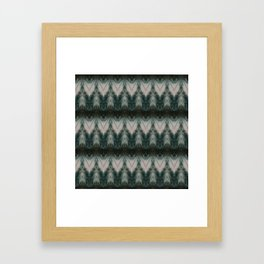 Shades of Green Shibori Framed Art Print