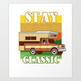 Retro Camping Gift Print Funny Vintage RV Classic Camper Print Art Print