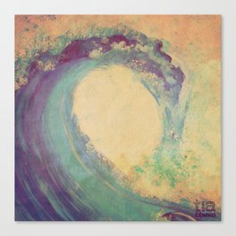 Cropped Wave Canvas Print