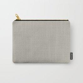 Best Seller Dark Gray Taupe Solid Color Inspired by Benjamin Moore Thunder Gray AF-685 Carry-All Pouch