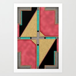 Quad - Geometric Art Deco Design Art Print