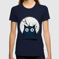 Owl X-LARGE Navy Womens Fitted Tee