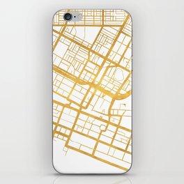 PERTH AUSTRALIA CITY STREET MAP ART iPhone Skin