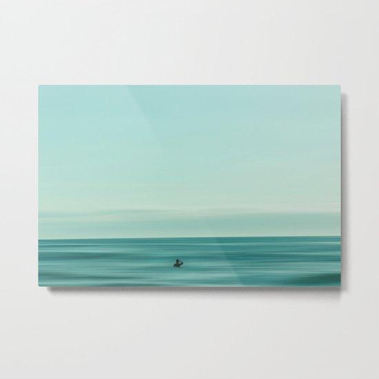 Man in the sea Metal Print