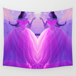 Fairy Bride Pink Wall Tapestry