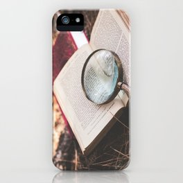 learn + explore. iPhone Case