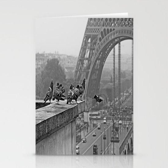 pigeons parisien Stationery Cards