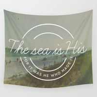 scripture Wall Tapestries featuring Psalm 95:5 by Zeke Tucker