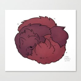 Fluffy Nuzzles! Canvas Print