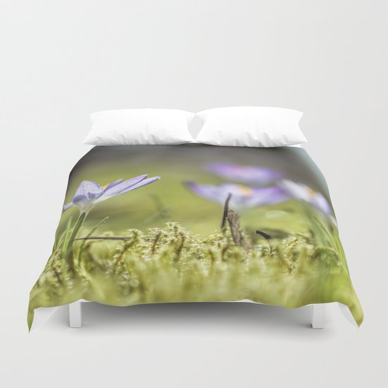 Crocus meadow Duvet Cover