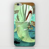 dick iPhone & iPod Skins featuring Moby Dick by Mary Slumber