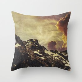 Mountain Evening - Sunset in the Alps Throw Pillow