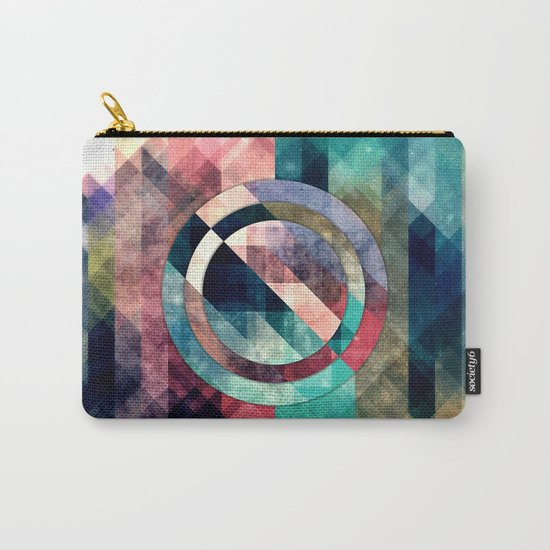 Colorful Grunge Geometric Abstract Carry-All Pouch