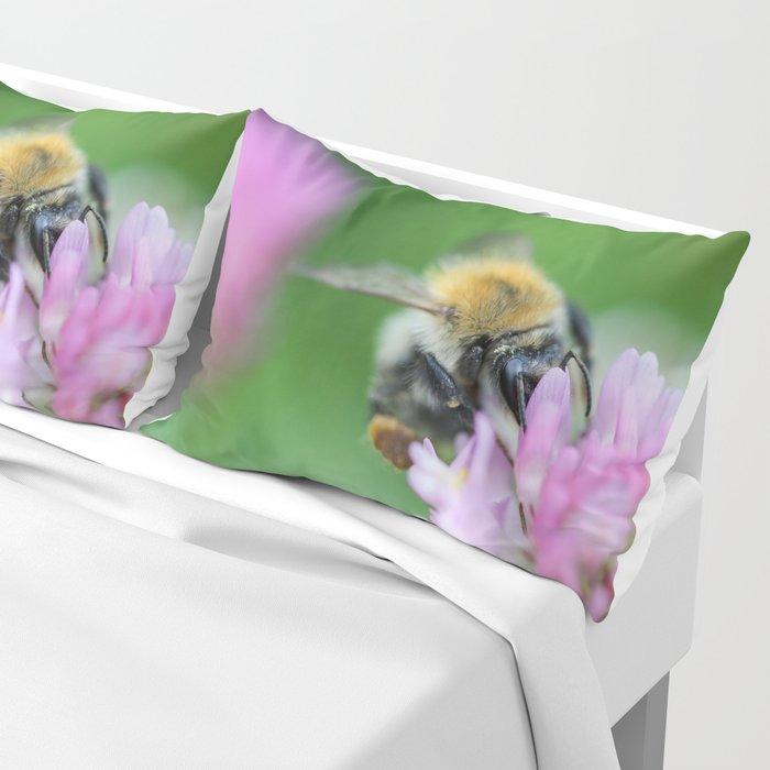 Bumblebee on Clover Close Up Pillow Sham