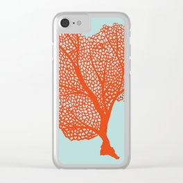 Coral Of The Sea Clear iPhone Case