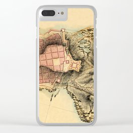 Map Of Montevideo 1808 Clear iPhone Case