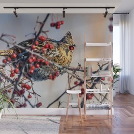January Ruffed Grouse Wall Mural