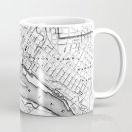 Vintage Map of Richmond Virginia (1884) BW Coffee Mug
