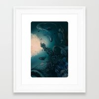 underwater Framed Art Prints featuring Underwater by Tanya_tk