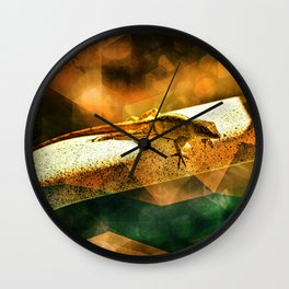 Lizard of the Orange Sahara Lounge Chair Wall Clock