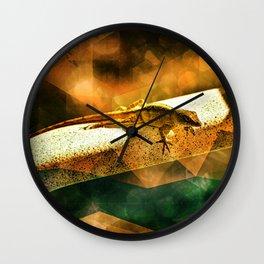 Lizard of the Orange Sahara Lounge Chair Wall Clock