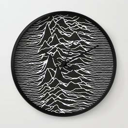 Joy Division Unknown Pleasures Pattern Wall Clock