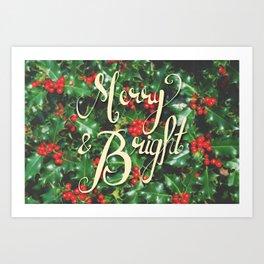 Merry & Bright! Art Print