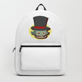 Scary Zombie Face Top Hat Halloween Backpack