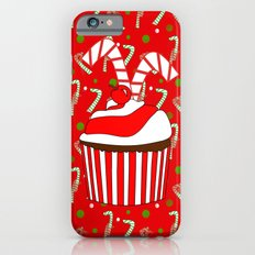 Holiday Candy Cane Cupcake iPhone 6s Slim Case