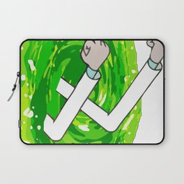 Rick And Mortyy Flip Off Laptop Sleeve