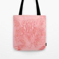 kitten Tote Bags featuring kitten by Marina Kuchenbecker
