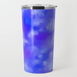Abstract Clouds - Rich Royal Blue Travel Mug