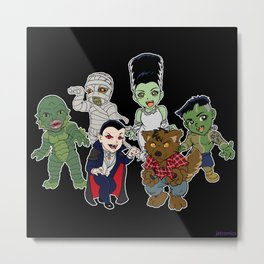 Universal Monsters Metal Print