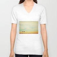 farm V-neck T-shirts featuring Farm Polaroid by Kurt Rahn