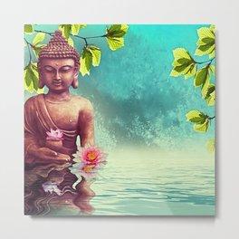 Buddha Zen Morning Metal Print