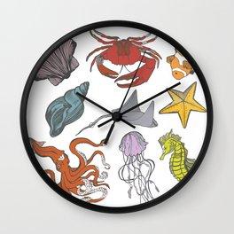 Sea-life Collection Wall Clock