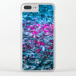Water Color - Violet - Purple Clear iPhone Case