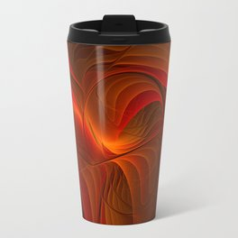 Warmth, Abstract Fractal Art Travel Mug