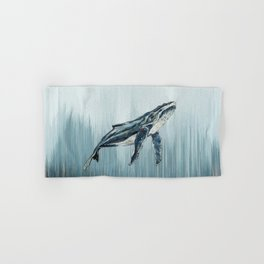 Watercolour Humpback Whale Hand & Bath Towel
